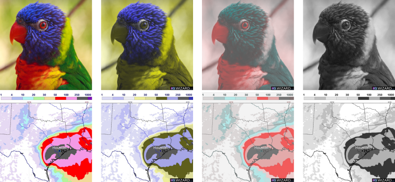 An example of a spatial map and a photo converted using the HCLwizard Converter.